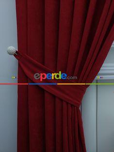 Kırmızı Düz Fon Perde » Eperde.com