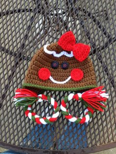 Gingerbread Baby Hat Crochet Holiday Hats