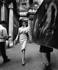 Simone + Painting + Coffee, Rome 1962