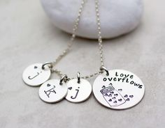 Personalized Sterling Silver Hand-Stamped Necklace | Love Overflows