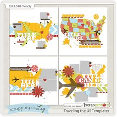 Traveling the US Templates