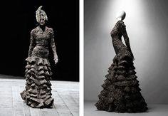 alexander mcqueen black feather dress - Google Search