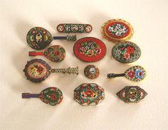 mosaic brooches