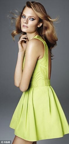 Neon Dress for Summer (H). The Backless Top/Dress Trend? A Gift to All Men.