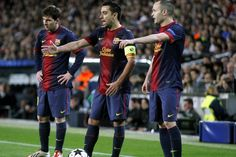 Los tres tenores, Messi, Iniesta y Xavi