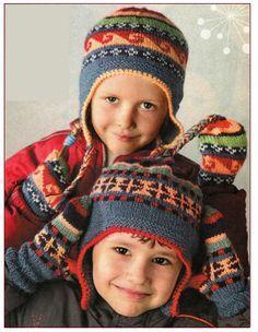 вязаные,шапки,для,детей,спицами,жаккард