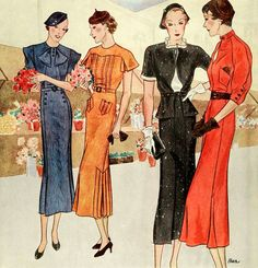 McCall's patterns, via myvintagevogue. Vogue Vintage, Moda Vintage, Vintage Ladies, 1930s Fashion, Victorian Fashion, Vintage Fashion, Fashion Fashion, Vintage Couture, Mccalls Patterns