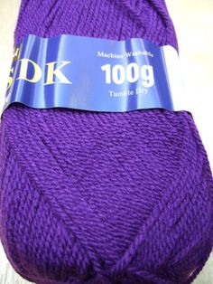 100g Sirdar Hayfield Bonus DK knitting yarn 0840 purple knitting wool £1.90