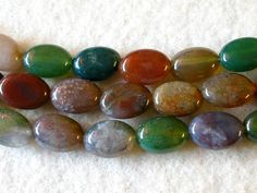 Indian Agate Beads 8x10mm Oval  30 by wimsy on Etsy (Craft Supplies & Tools, Jewelry & Beading Supplies, Beads, indian agate beads, gemstone beads, natural agate beads, over 30 agate beads, 8x10mm agate beads, polished agate beads, oval agate beads, wimsy)