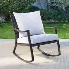 Coral Coast Losani All Weather Wicker Outdoor Rocking Chair   LV 434C