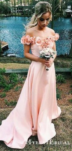 Charming Elegant Blush Pink Off Shoulder A-line Long Cheap Bridesmaid Dresses, - Chiffon Bridesmaid Dresses & Gowns: Long and Short Simple Bridesmaid Dresses, Designer Bridesmaid Dresses, Wedding Dresses, Blush Pink Wedding Dress, Junior Bridesmaids, Bridesmaid Gowns, Prom Dresses 2018, Cheap Prom Dresses, Pink Dresses