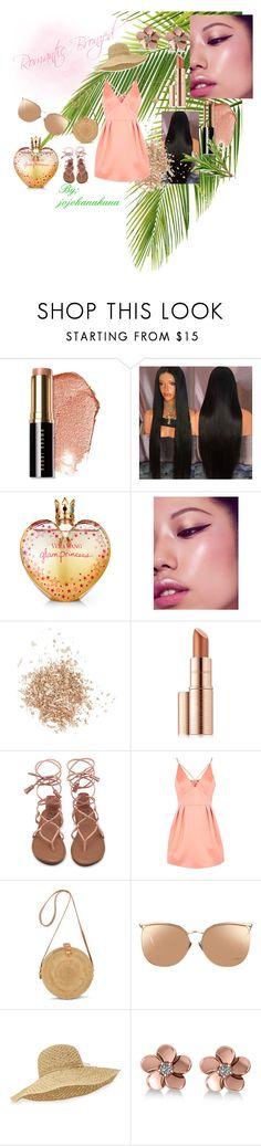 """Romantic Bronzed"" by jojohanakana on Polyvore featuring Bobbi Brown Cosmetics, Vera Wang, Topshop, Estée Lauder, Linda Farrow, Helen Kaminski, Allurez, cute, contest and pretty"