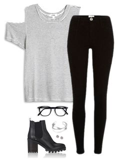 """""""Untitled 339"""" by maddkat ❤ liked on Polyvore featuring LnA, Barneys New York, Botkier and EF Collection"""