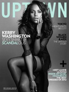 Kerry Washington covers Uptown Magazine [Dec/Jan 2013]