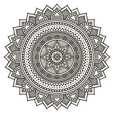 Mandala. Round Ornament Pattern. Vintage decorative elements. Hand drawn background photo