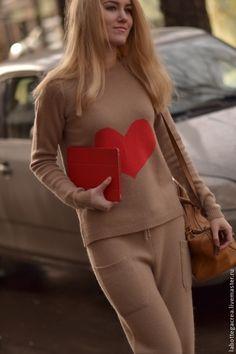 Кофты и свитера ручной работы. Ярмарка Мастеров - ручная работа. Купить Вязаный костюм Style me pretty cashmere. Handmade.