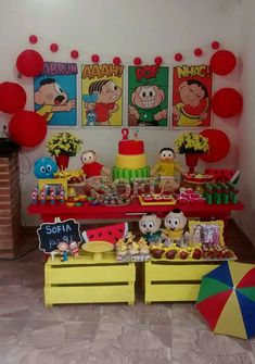 Turma da Mônica Ideas Para Fiestas, Son Luna, Oscar Party, Classroom Decor, Event Planning, Party Themes, Alice, Birthday Parties, Baby Shower