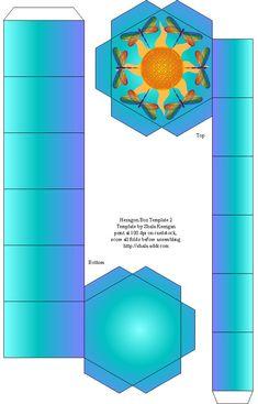 printable #templates.......Hexagon Box Template