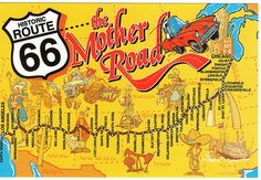 USA RT 66 Map, took this trip in the  1960`s with my family