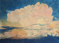 Artist Rebecca Bird. Nostagia, 2005, Watercolor on paper, 39 x 50