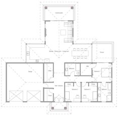 Home Plan Modern House Plan to Modern Family. Free House Plans, Sims House Plans, House Floor Plans, Solar Panel Cost, Best Solar Panels, Modern Architecture, Planer, Building A House, New Homes