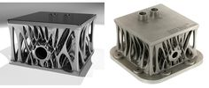 3D printed engine block designed to be lightweight and strong
