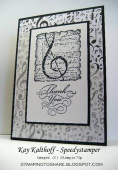 Musical Thanks by Speedystamper - Cards and Paper Crafts at Splitcoaststampers
