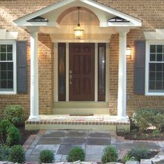 Front Porch Portico Designs | ... Front Porch Portico Design Ideas Pictures  Remodel Porch