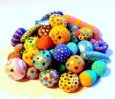 Handmade Beads / Children's DIY Craft Kit / by theblueberrydoor on Etsy