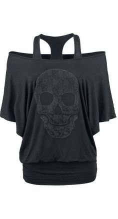 Lace Skull Top by Rock Rebel ~ EMP