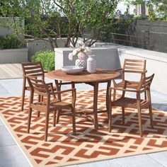 5 Piece Dining Set, Outdoor Furniture Sets, Patio Set, Dining, Dining Furniture, Solid Wood Table Tops, Dining Room Sets, Dining Chairs, Patio Dining