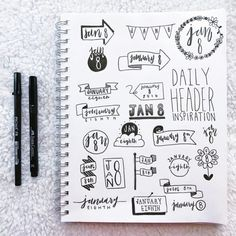 Bullet Journal Banners and Headers