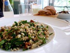 Istanbul - Kantin, and a bulgur salad