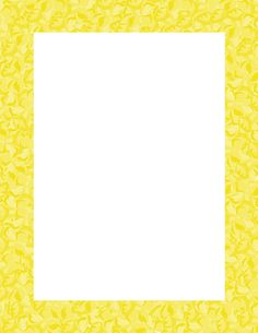 Yellow Spring Clip Art Frame by Michelle Collins.