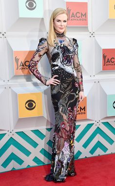 Nicole Kidman in Alexander McQueen - Best Dressed Stars at the ACM Awards 2016 - April 3, 2016