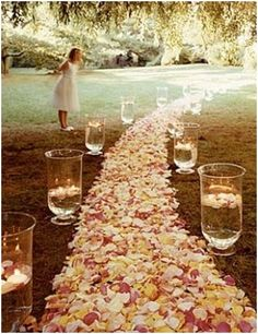 outdoor wedding at home | outdoor wedding aisle decorations