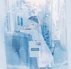 Girls Characters, Anime Characters, Blue Anime, Blue Aesthetic, Anime Chibi, Anime Art Girl, All Art, Cute Girls, Illustration Art