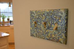 How to Modge Podge light switch plates