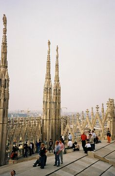 From the roof of the Duomo you can see the Swiss Alps. Italy Vacation, Vacation Trips, Italy Travel, Travel Around The World, Around The Worlds, Italy Tours, Swiss Alps, Milan Italy, Historical Sites