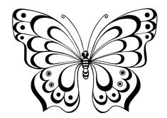 Ideas For Wood Burning Patterns Templates Stencil Butterfly Stencil, Butterfly Drawing, Butterfly Template, Butterfly Pattern, Colouring Pages, Adult Coloring Pages, Coloring Books, Art Quilling, Quilling Patterns