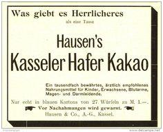 Original-Werbung/ Anzeige 1899 - HAUSEN'S KASSELER HAFERKAKAO - ca. 110 x 80 mm