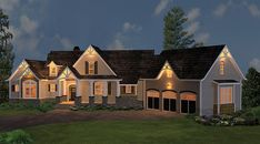 ePlans Craftsman House Plan – Spacious Ranch with Bonus Second Floor & In-law suite– 2498 Square Feet and 3 Bedrooms from ePlans – House Plan Code HWEPL75890