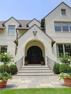 Exterior White Painted Brick Design, Pictures, Remodel, Decor and Ideas