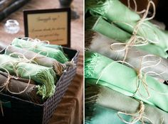 Pashmina wedding favors for the lovely ladies.