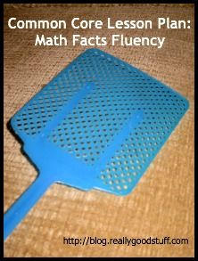 Common Core Lesson Plan - Math Facts Fluency {Can do with all fact from addition to division - fun!}