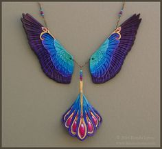 Radiance Falcon Wings - Leather Necklace by windfalcon.deviantart.com on @deviantART