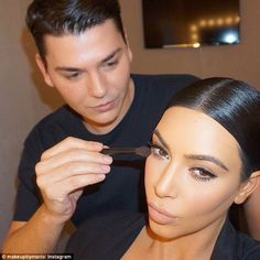 Putting it all on: Kim Kardashian's make-up artistMario Dedivanovic has revealed which products he likes to pick up at the drugstore in a new Snapchat