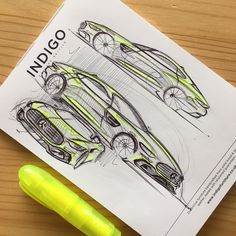 """51 Likes, 2 Comments - Ashley Knight (@ashley_niall) on Instagram: """"Some mini pad work :). #astonmartin #car #design #sketch #transportdesign #transportationdesign…"""""""