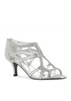 Easy Street Silver Flattery Evening Shoes
