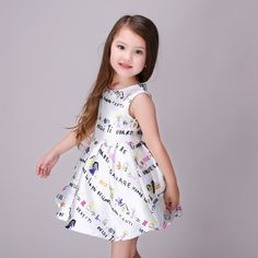 Fashion Baby Girl Dress Cute Sleeveless Printed Kids Casual Summer Dress For Little Girl 86166 - Buy Fancy Dresses For Baby Girl,Girls Puffy Dresses For Kids,Casual Dresses For Teenagers Product on Alibaba.com Baby Fancy Dress, Little Girl Dresses, Flower Girl Dresses, Kids Patterns, Sewing Patterns, Puffy Dresses, Casual Summer Dresses, Baby Girl Fashion, Teenagers